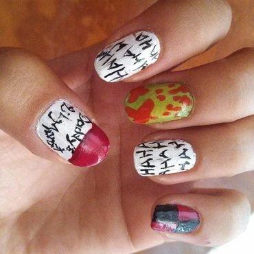 Harley Quinn Quote nail art