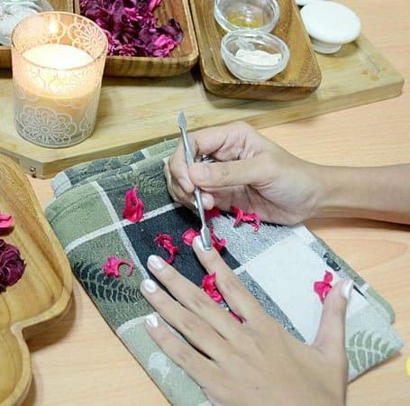 Preparing cuticles