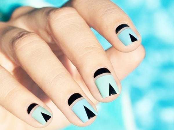 35 Geometric Nail Ideas for A Trendy Look