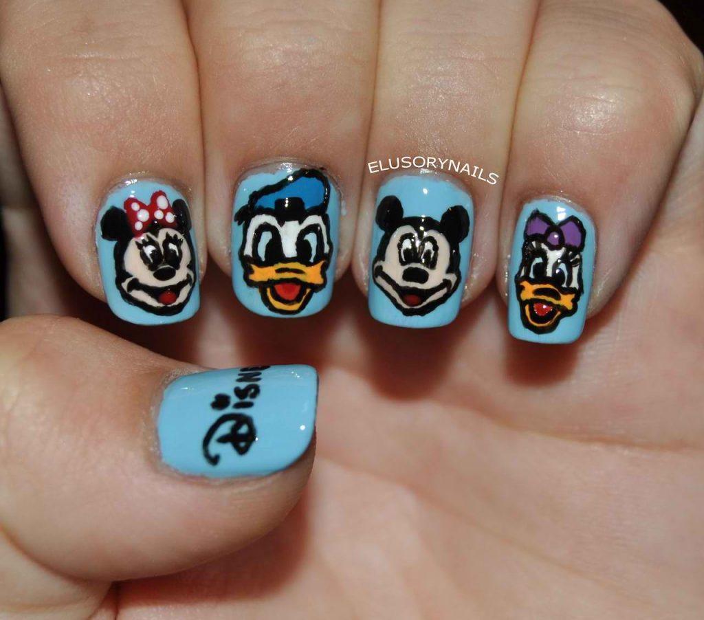 Disney Character Nail Design