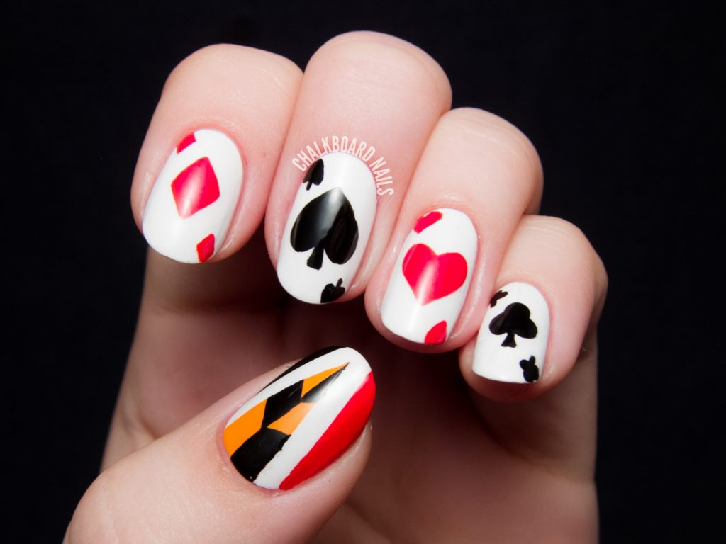 Playing Cards Alice in wonderland nails