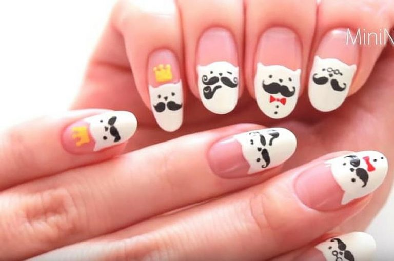 15 Cutest Mustache Nails That Look Adorable
