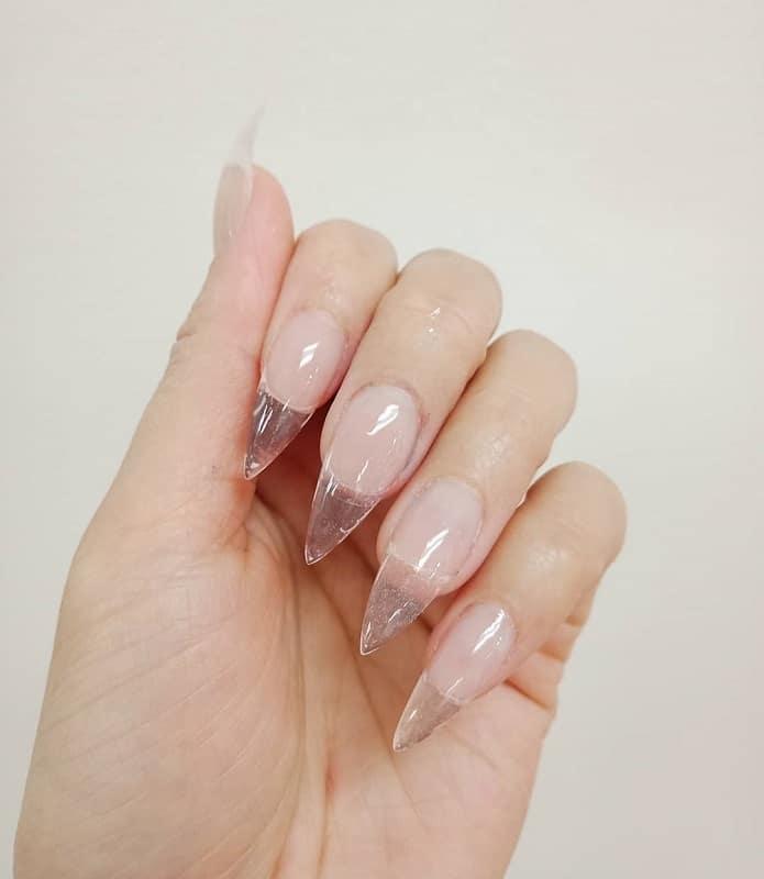 clear glass nail design