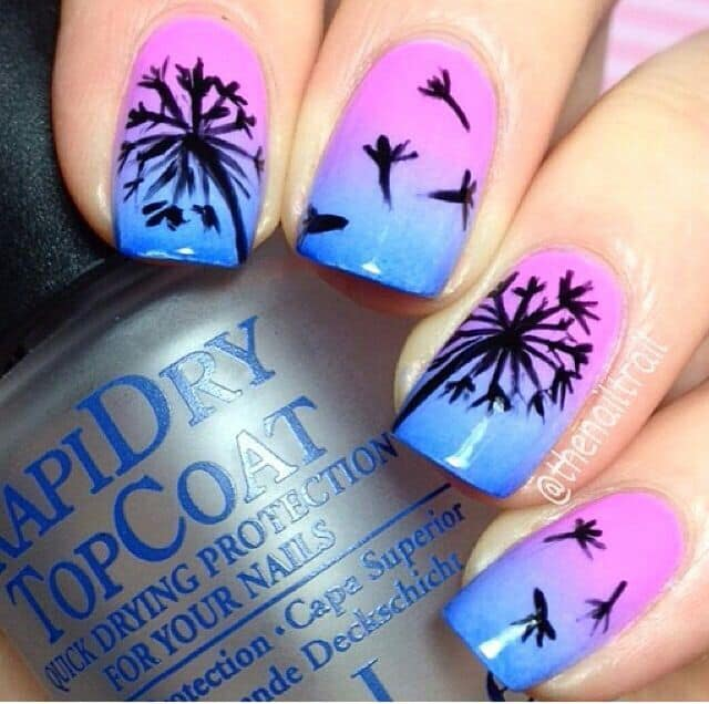 Dusky Dandelion Nail Art Ideas