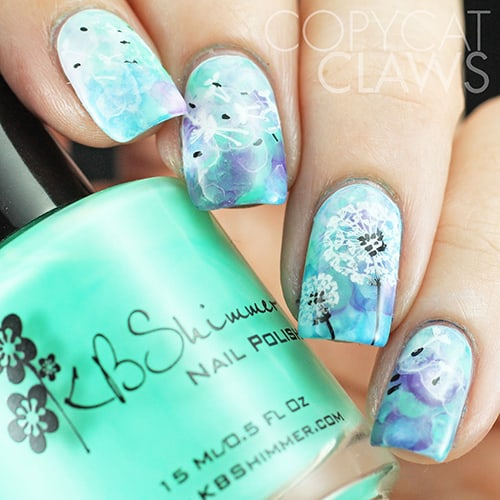 15 dandelion nail art to blow your wishes in the breeze dandelion nail art prinsesfo Gallery