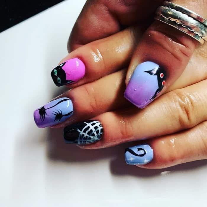 emo acrylic nails