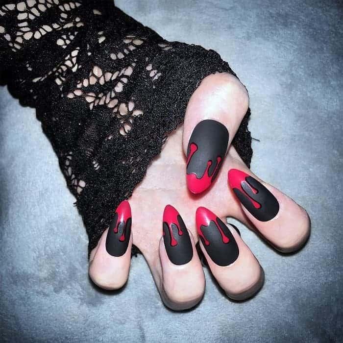 emo fake nails