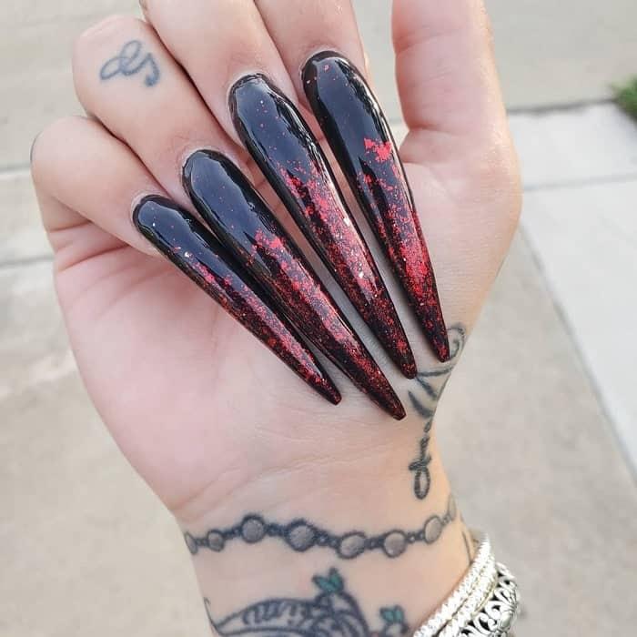 emo gel nails