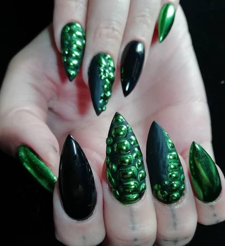 goth stiletto nails