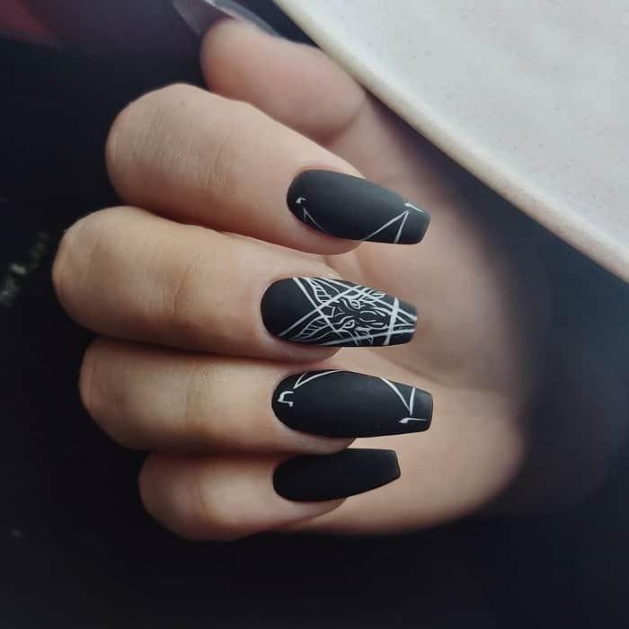 gothic coffin nail design