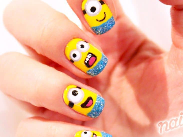 Hand Painted Minion nail