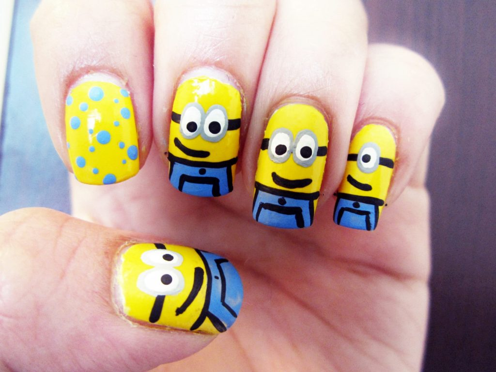 cute minion nail design