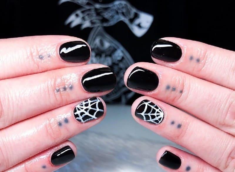 short goth nails