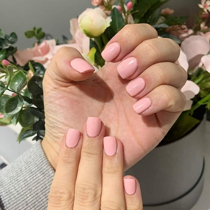 Short Square Acrylic Nails