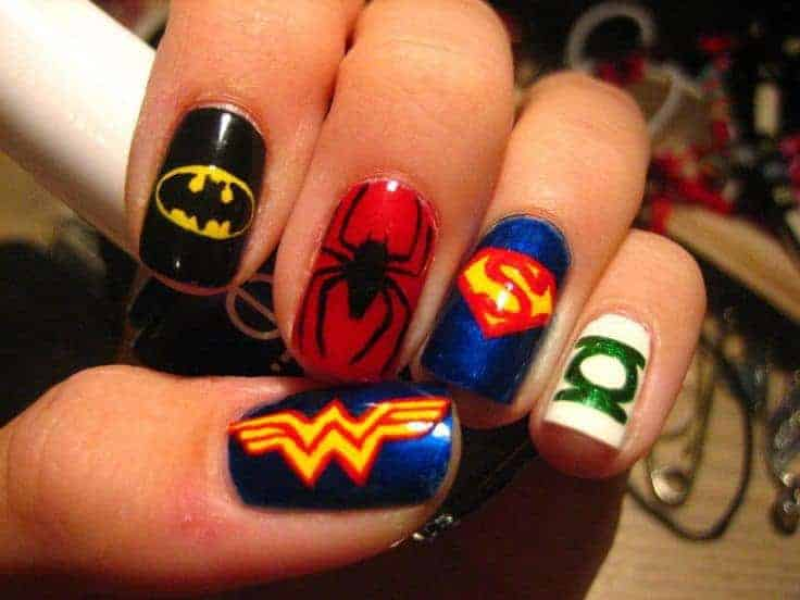 25 Marvel & Superhero Nail Art To Indulge in Fantasy