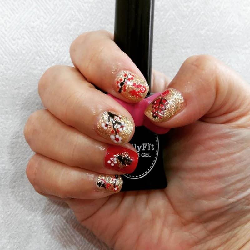 chinese blossom nail art