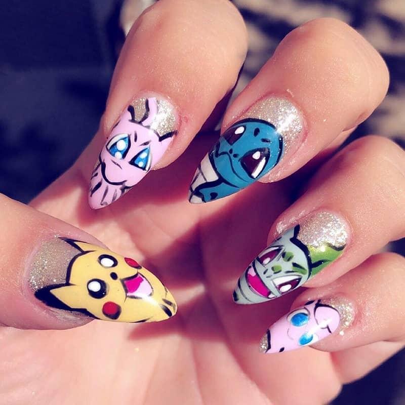 pokemon stiletto nails