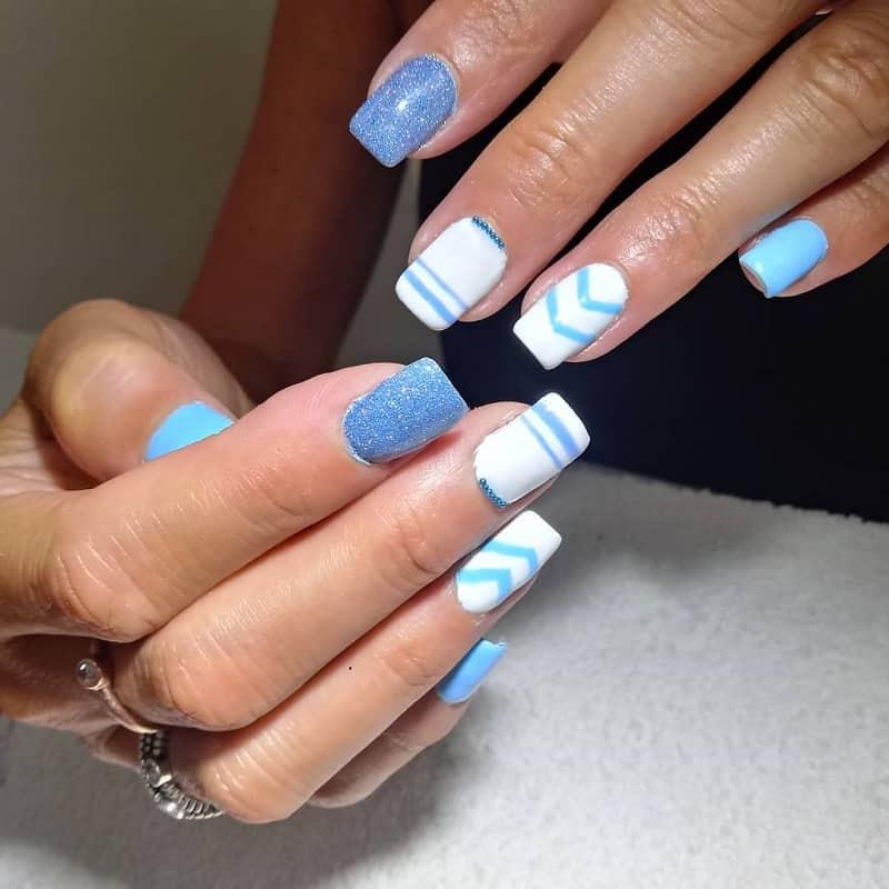 teens powder nail designs