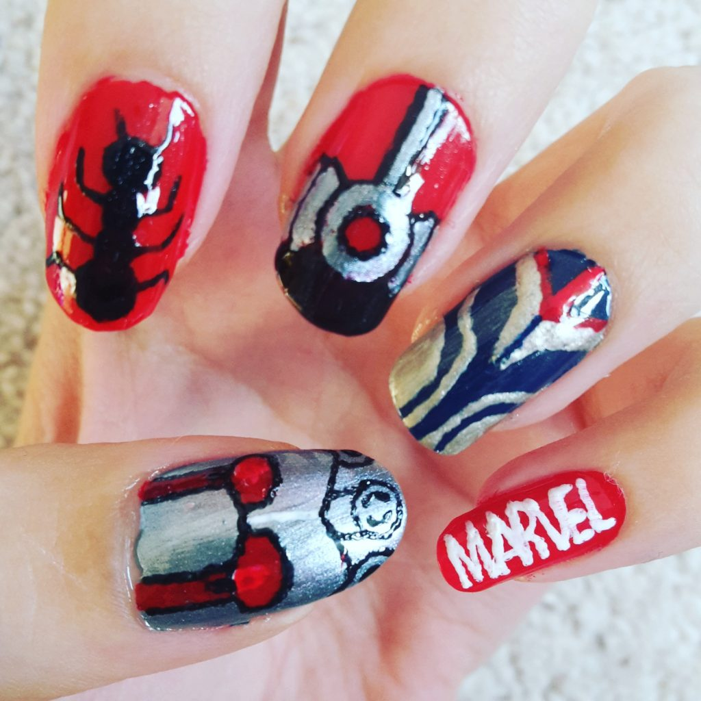 marvel comic nail art