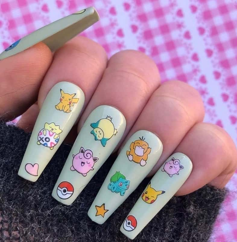 pokemon nail stickers