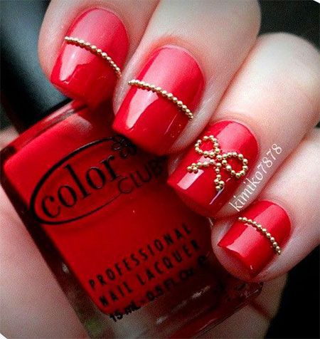 Red Nail Designs for Wedding