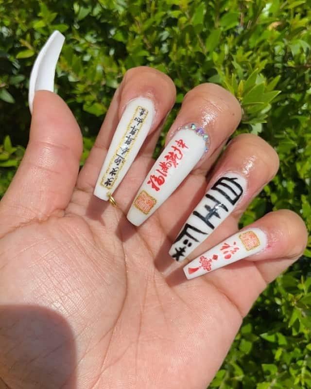 chinese symbol nail art