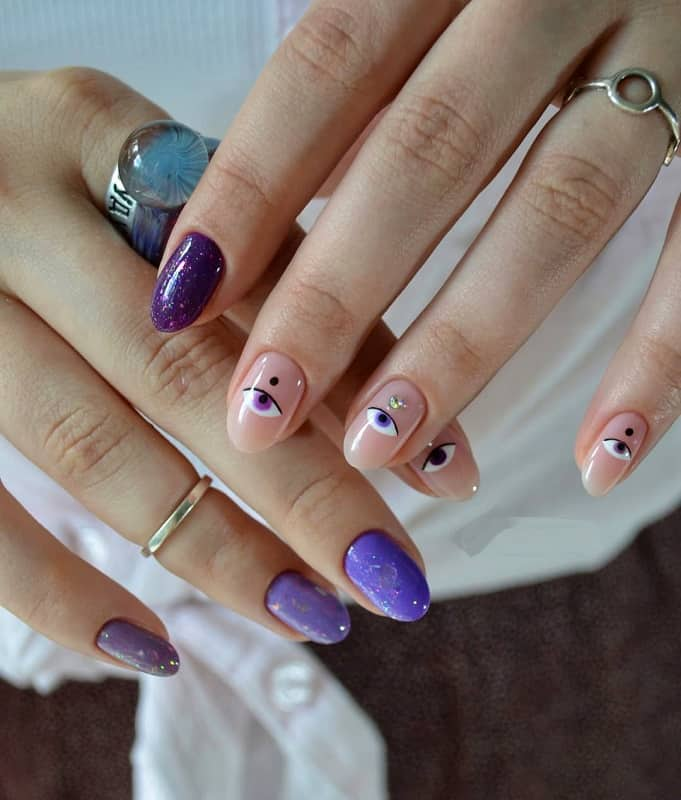 korean nails stickers