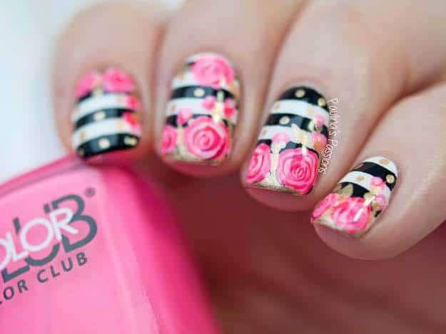 Flower nail design for teens