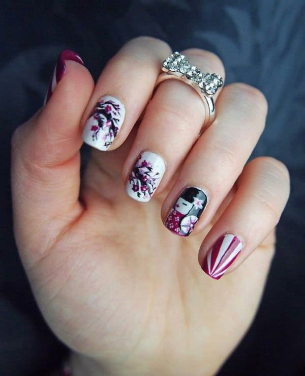 15 Joyous Japanese Nail Art To Stand Out from Crowd