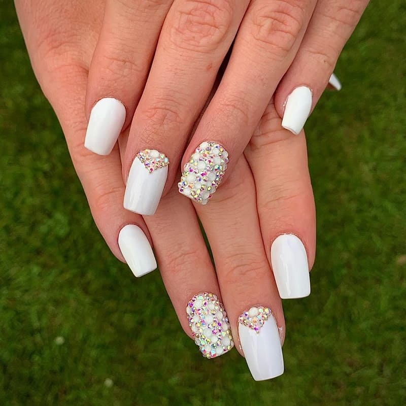 crystal white nails