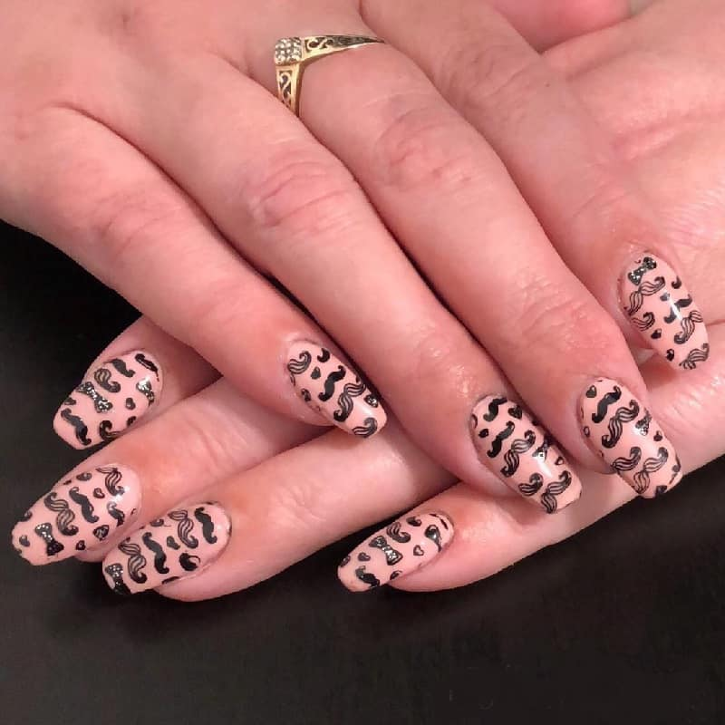 jamberry mustache nails