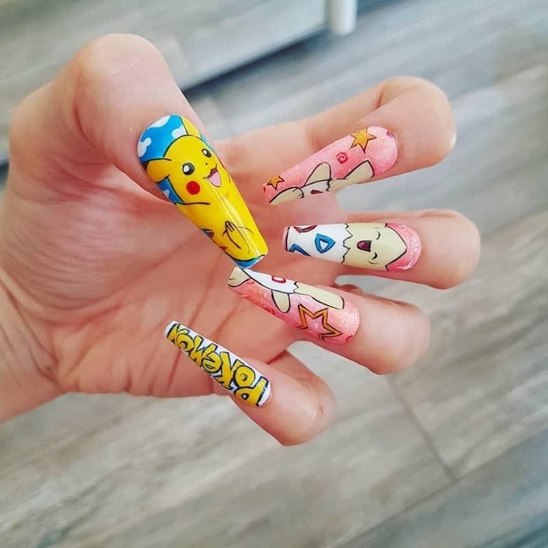 pikachu nail stickers