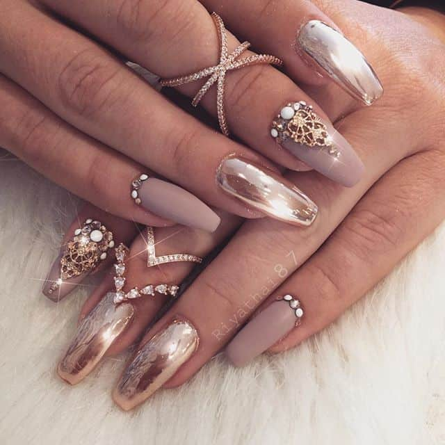 Elegant Silver Nails For Prom: 20 Awe-Inspiring Prom Nails To Make Heads Turn