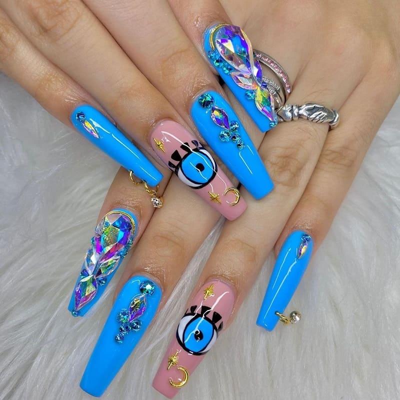 acrylic piercing nail