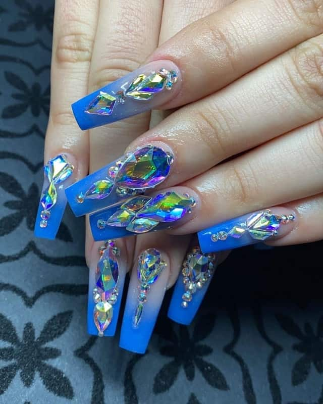 large swarovsky crystals for nail