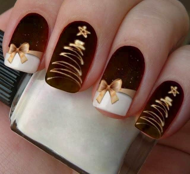 bow prom nail design