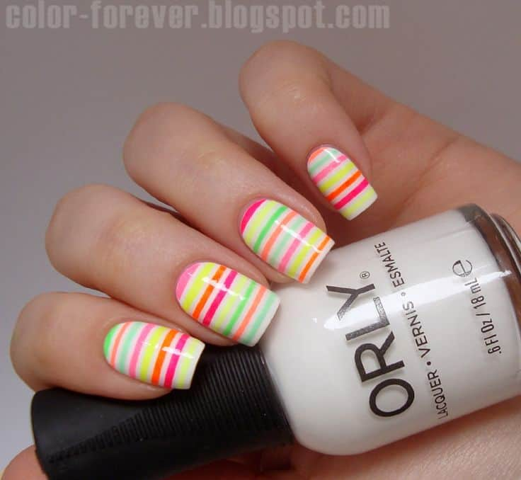 15 Mesmerising Striping Tape Nail Art to Make a Difference