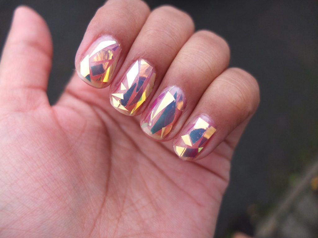 Diamond glaze Korean nail art