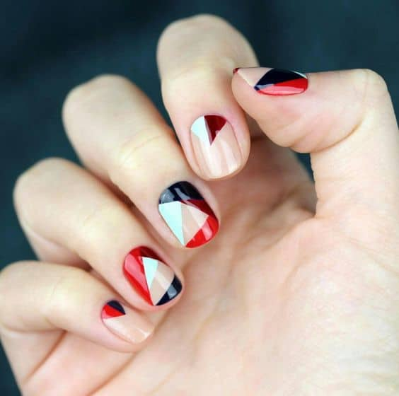 10 futuristic korean nail art to stay ahead of time if you like it colorful this korean nail art is made for you you can paint your nails with different color and combine them in an organized pattern to prinsesfo Gallery