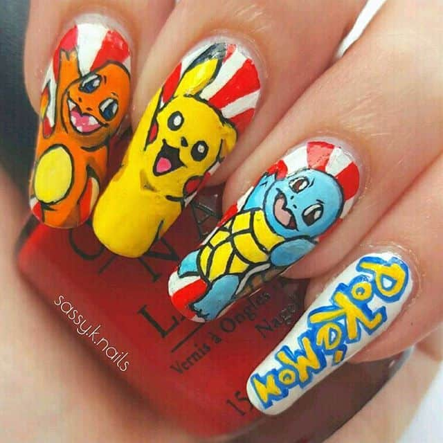 Pokemon Nail Art