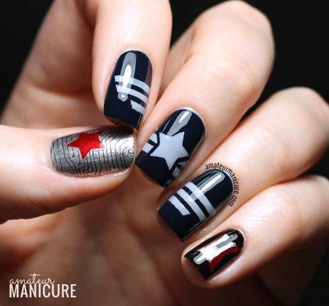 captain america manicure