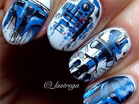 Star Wars nail design