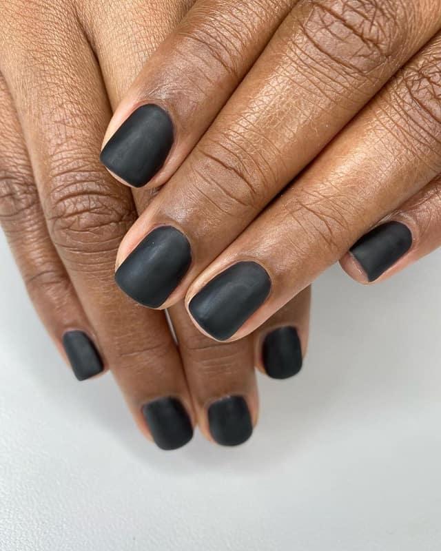black matte nail polish for dark skin