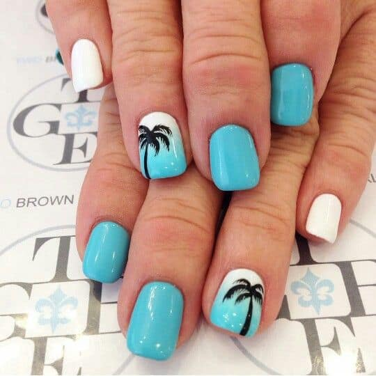 15 Phenomenal Palm Tree Nail Designs For This Summer