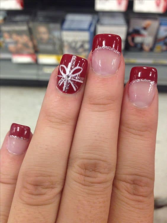 red tip solar nail design for teen