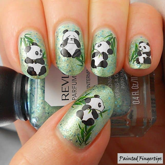 Panda nail designs 21 cutest ideas for 2018 naildesigncode bamboo and pandas are so integrated with each other that i cant imagine panda nail designs without prinsesfo Image collections