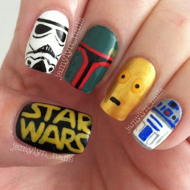 star war character nails