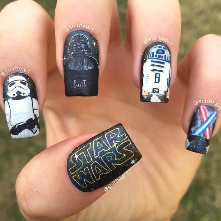 20 Star Wars Nails To Show Love For The Trilogy Naildesigncode