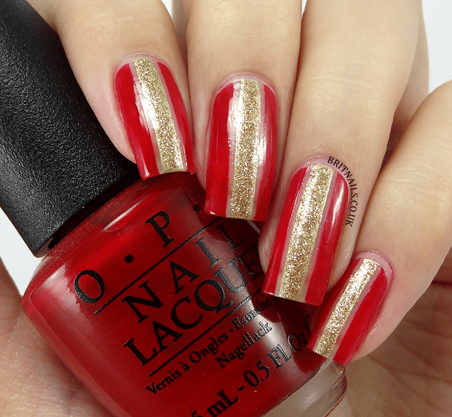 15 royal red and gold nail designs to stun the audience red and gold nail design prinsesfo Image collections