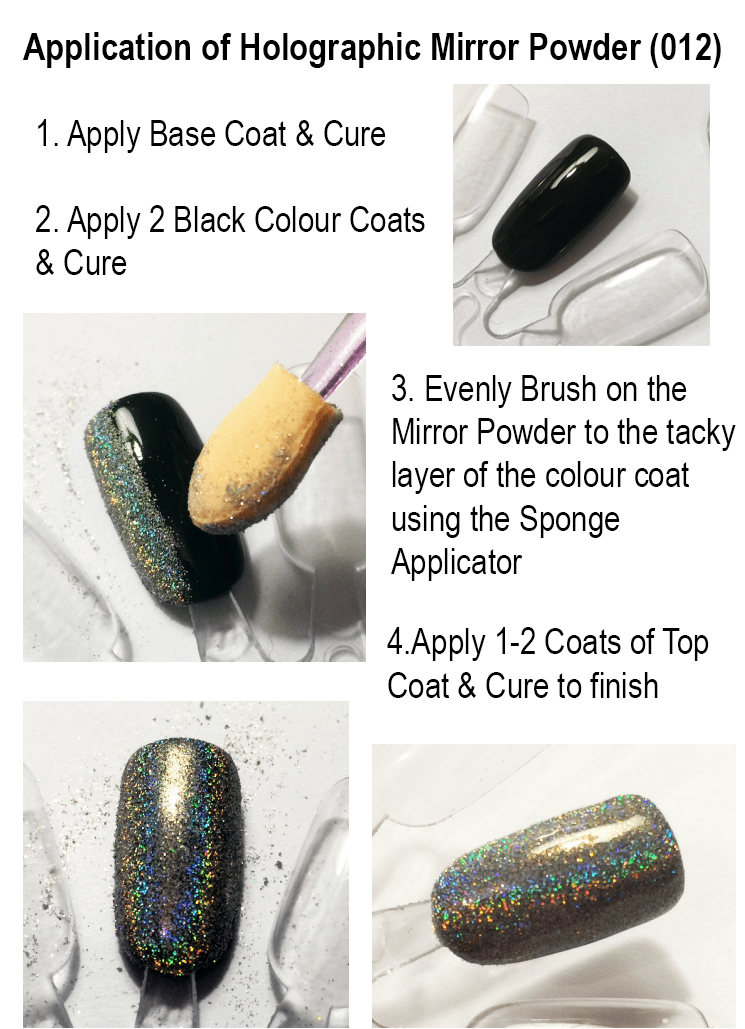 how to do holographic nails